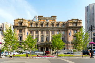 大連,大和ホテル正面の写真素材 [FYI02671290]