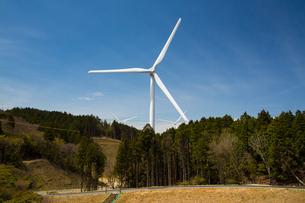 青山高原の風力発電施設の写真素材 [FYI02671315]