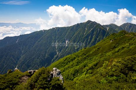 中央アルプス 空木岳と南駒ケ岳の写真素材 [FYI02671335]