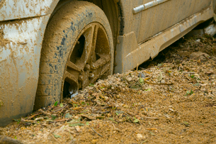 土砂災害の風景の写真素材 [FYI02671348]