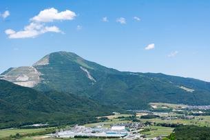 横山城跡から望む伊吹山,滋賀県の写真素材 [FYI02671412]
