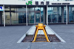 稚内駅日本最北端のJR駅の写真素材 [FYI02671607]