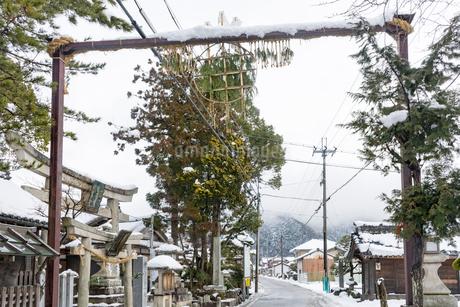 勧請吊り(伊庭の水辺景観)の写真素材 [FYI02671677]