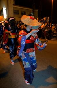 8月 秋田の西馬音内盆踊りの写真素材 [FYI02671747]