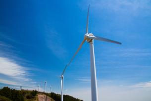 青山高原の風力発電施設の写真素材 [FYI02671802]
