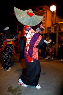 8月 秋田の西馬音内盆踊りの写真素材 [FYI02671954]