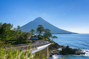 瀬平公園からの開聞岳の写真素材 [FYI02672007]