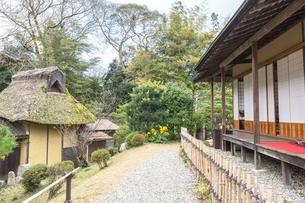 玄宮園茶室と庭の写真素材 [FYI02672036]