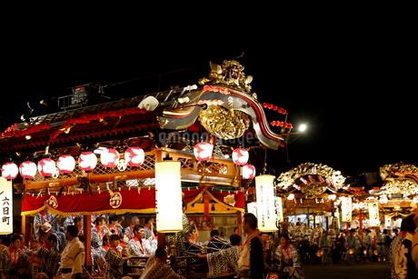 8月 鹿角市の花輪ばやしの写真素材 [FYI02672110]