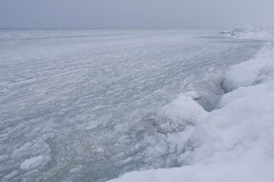 寒さで凍った海の写真素材 [FYI02672127]