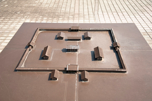 城輪柵跡模型の写真素材 [FYI02672159]