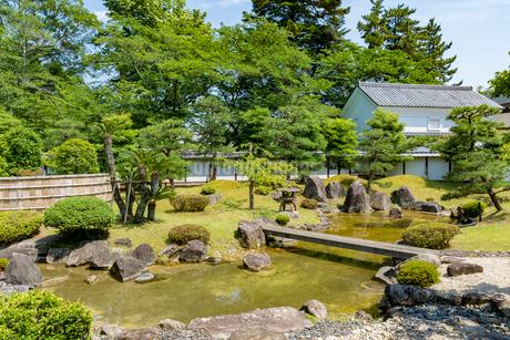 彦根城博物館の日本庭園の写真素材 [FYI02672263]
