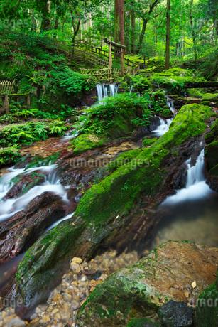 瓜割の滝 若狭瓜割名水公園の写真素材 [FYI02672332]