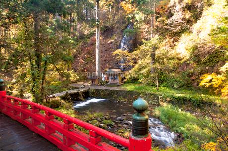 秋の祓川と須賀の滝の写真素材 [FYI02672339]