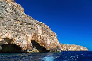 青の洞門と地中海の写真素材 [FYI02672360]