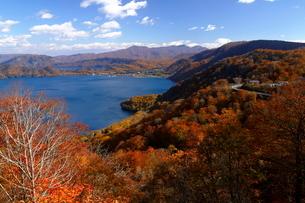 10月 紅葉の十和田湖 秋の東北の写真素材 [FYI02672372]
