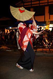 8月 秋田の西馬音内盆踊りの写真素材 [FYI02672405]