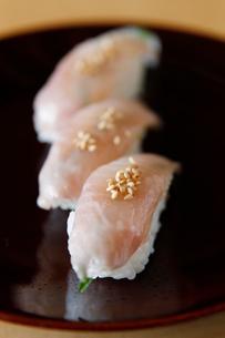 ホッケの握り寿司の写真素材 [FYI02672447]