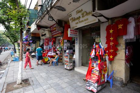 ハノイ旧市街36通り、ハンボン通りの写真素材 [FYI02672530]