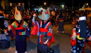 8月 秋田の西馬音内盆踊りの写真素材 [FYI02672697]