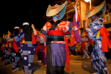 8月 秋田の西馬音内盆踊りの写真素材 [FYI02672719]
