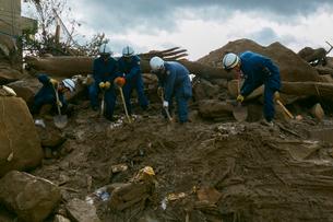 土砂災害の風景の写真素材 [FYI02672771]