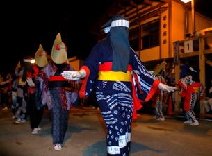 8月 秋田の西馬音内盆踊りの写真素材 [FYI02672791]