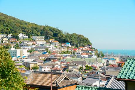 神戸市 塩屋の街並みの写真素材 [FYI02672806]