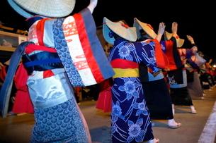 8月 秋田の西馬音内盆踊りの写真素材 [FYI02673034]