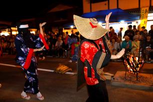 8月 秋田の西馬音内盆踊りの写真素材 [FYI02673156]