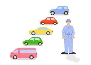 整備士と5台の車のイラスト素材 [FYI02673201]