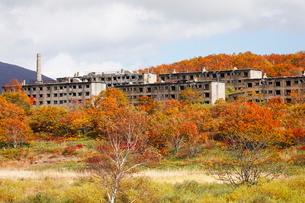 10月 松尾鉱山廃墟 紅葉の八幡平アスピーテラインの写真素材 [FYI02673468]