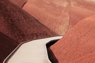 ジョン・デイ化石層国定公園のレッド・スカー・ノールの写真素材 [FYI02673730]