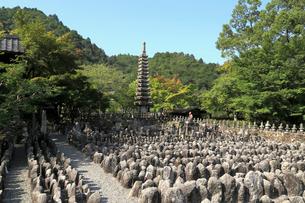 あだしの念仏寺の西院の河原の写真素材 [FYI02673856]