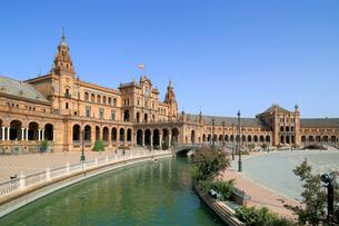 セビリアのスペイン広場の写真素材 [FYI02673991]