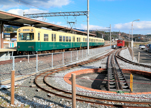 三岐鉄道阿下喜駅の写真素材 [FYI02674022]