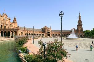 セビリアのスペイン広場の写真素材 [FYI02674402]