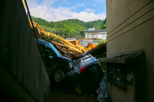 土砂災害の風景の写真素材 [FYI02674407]