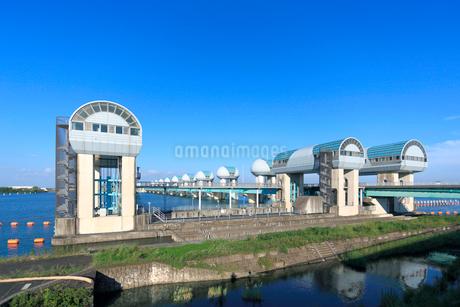 長良川河口堰の写真素材 [FYI02674442]