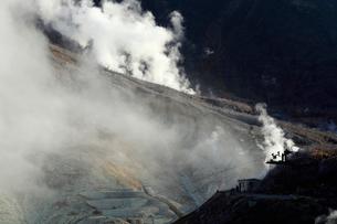 大涌谷の噴煙の写真素材 [FYI02674508]