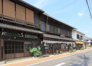中山道太田宿の家並みの写真素材 [FYI02674599]