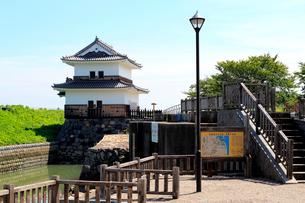 七里の渡し跡とばん龍櫓の写真素材 [FYI02674737]