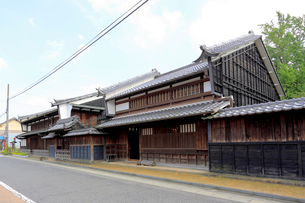 中山道太田宿の家並みの写真素材 [FYI02674779]