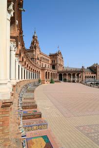 セビリアのスペイン広場の写真素材 [FYI02674818]