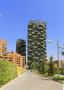 ミラノ再開発地区の垂直の森の写真素材 [FYI02674941]