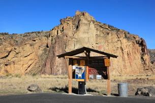 スミス・ロック州立公園の入場券発券機の写真素材 [FYI02675054]