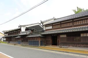 中山道太田宿の家並みの写真素材 [FYI02675370]