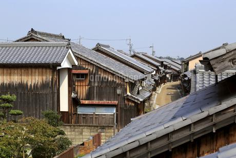 旧東海道関宿の町並みの写真素材 [FYI02675392]