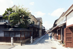 倉敷美観地区の本町通りの写真素材 [FYI02675459]