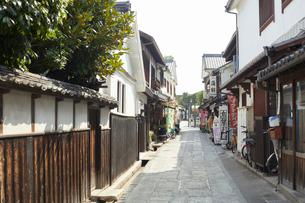 倉敷美観地区の街並みの写真素材 [FYI02675476]